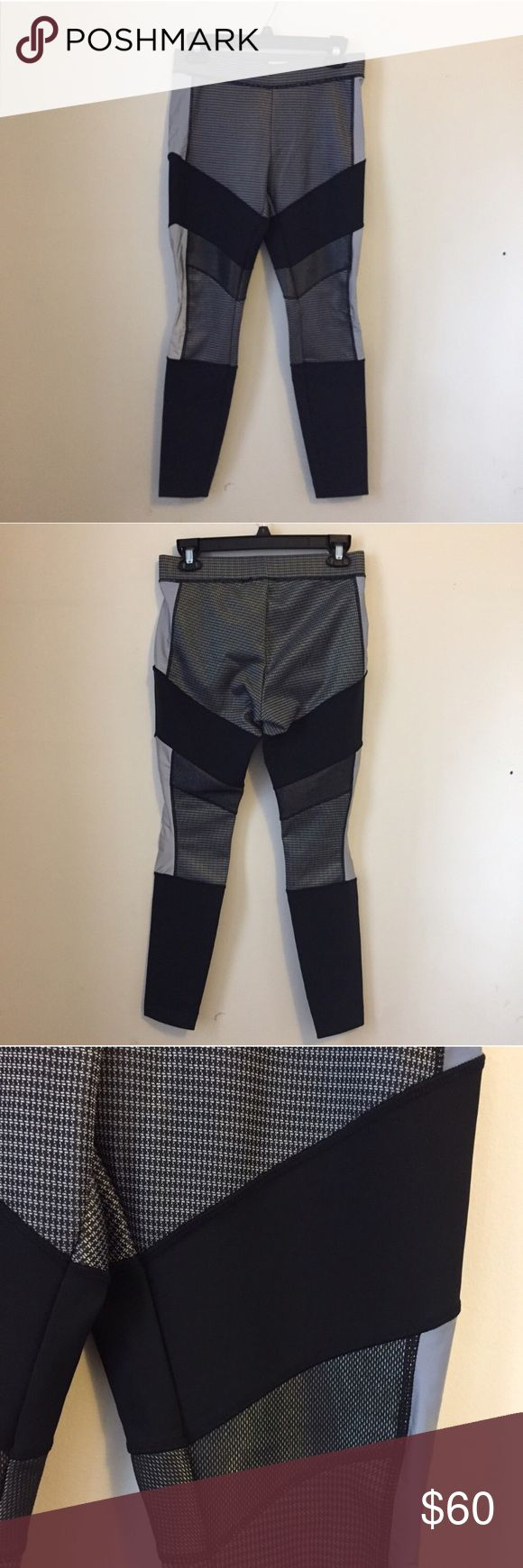 NWT Alexander Wang for H&M Leggings 8 Black, silver, and grey leggings from the sold out Alexander Wang collection for H&M. These are brand new with tags attached. Size 8. H&M Pants Leggings