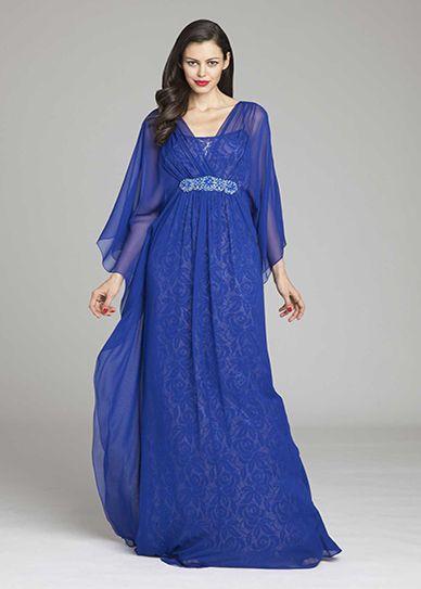 Belted Silk Kaftan Dress