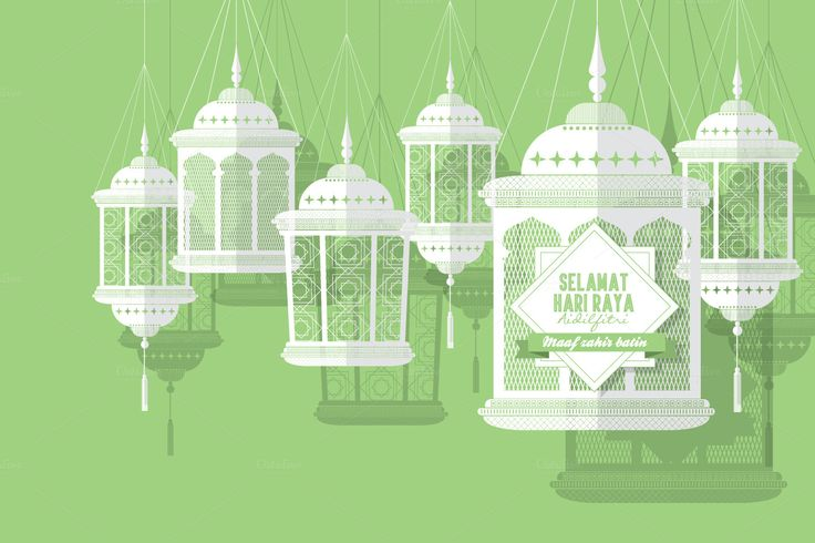 hari raya lantern vector by lyeyee on @creativemarket
