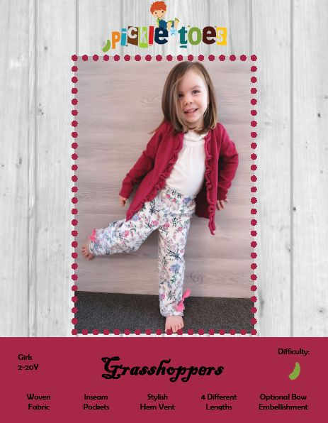 Grasshoppers – Pickle Toes Patterns