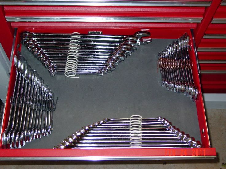 Spring Wrench Organizers For Hubbys Work Tool Box Do It