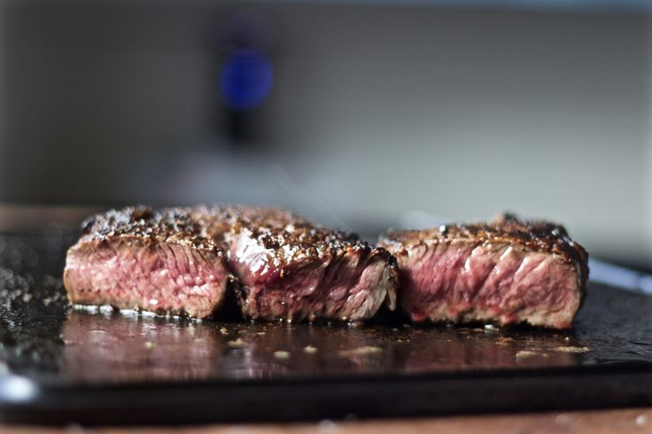 searing steak on the Baking Steel Griddle