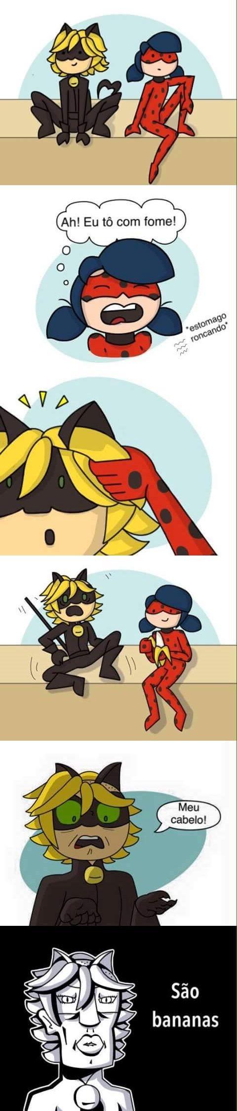 Miraculous Ladybug - Chat Noir e Ladybug  (sempre soube que era banana)