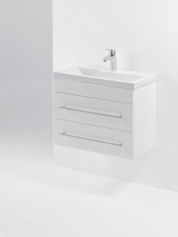 Details Zu KWIQQ Badmöbel Set 60 Cm Waschbecken Waschtisch Unterschrank  Weiß Hochglanz