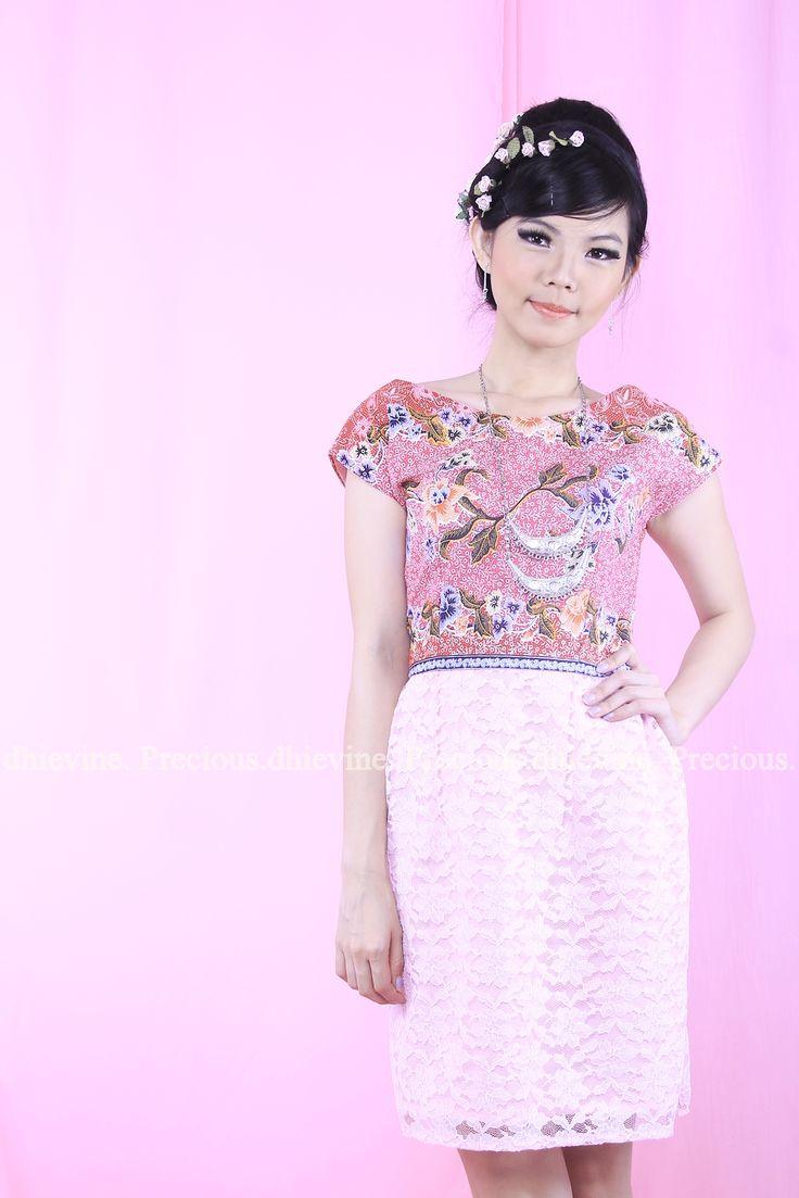 Batik Dress   Lace Dress   Dress Kebaya   Red diamond Dress   DhieVine   Redefine You