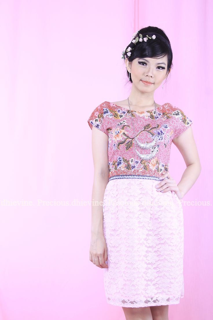 Batik Dress | Lace Dress | Dress Kebaya | Red diamond Dress | DhieVine | Redefine You