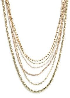 MANGO - Accessories - Jewellery - Necklaces and pendants - Metal beads and chains necklace