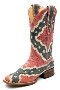 Country wear, Corral Rebel Flag Square Toe Women's Boot