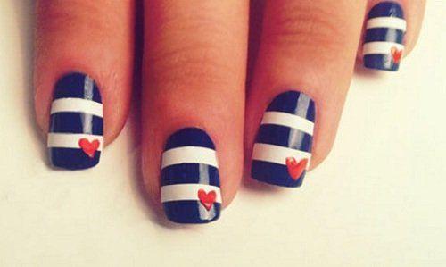 Tendencias en manicura: Uñas con estilo náutico - To Be Trendy