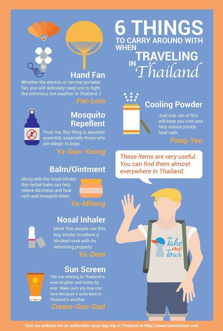 6 Things To Carry Around With When Traveling In Thailand