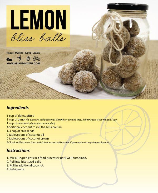 Lemon Bliss Ball Recipe