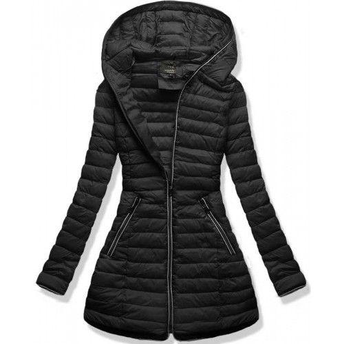 Dámská podzimní/zimní bunda Xava černá – černá – dámská prošívaná bunda – zapínání na zip – dvě přední kapsy – kapuce bez možnosti odepnutí – na zadní straně bez ozdob Střih: s kapucí Trend: bez …