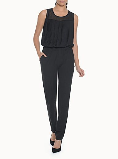 Icone Accordion Bustier Jumpsuit from Simons.