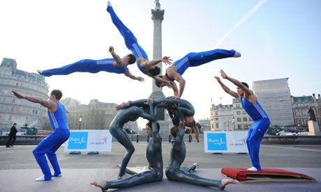 British gymnastics team preparing for the Olympics