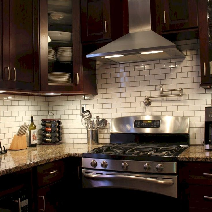 Kitchen Floor Tile Dark Cabinets: Pin By Linda Easterling On Kitchens