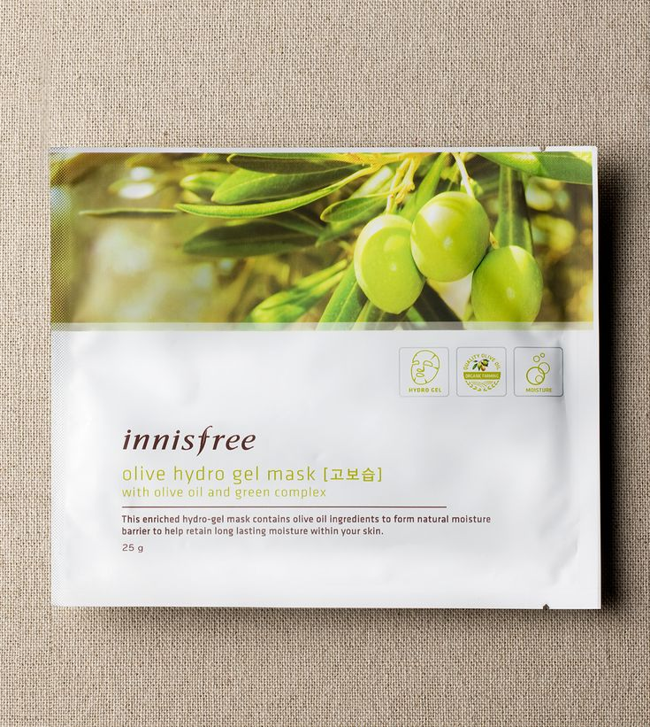 Enriching olive hydro gel mask to help retain moisture within the skin…