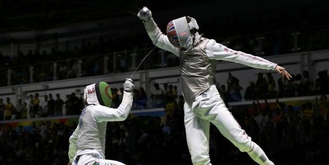 Escrime - JO 2016 - Rio - Victor Sintès face au Britannique Richard Kruse