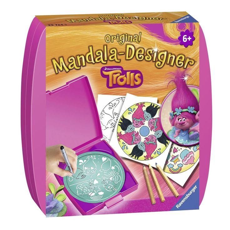 De Ravensburger Mandala-Designer® voor onderweg! Met deze mini uitvoering van de bekende Mandala-Designer® in het Trolls thema ontwerp je onderweg de mooiste mini mandala's. Gewoon het papier inleggen en het sjabloon van pijl naar pijl draaien. Kleur je net gemaakte mandala in en je unieke Trolls mandala is klaar! Afmeting: verpakking 14 x 14 x 3 cm - Mini Mandala Designer - Trolls