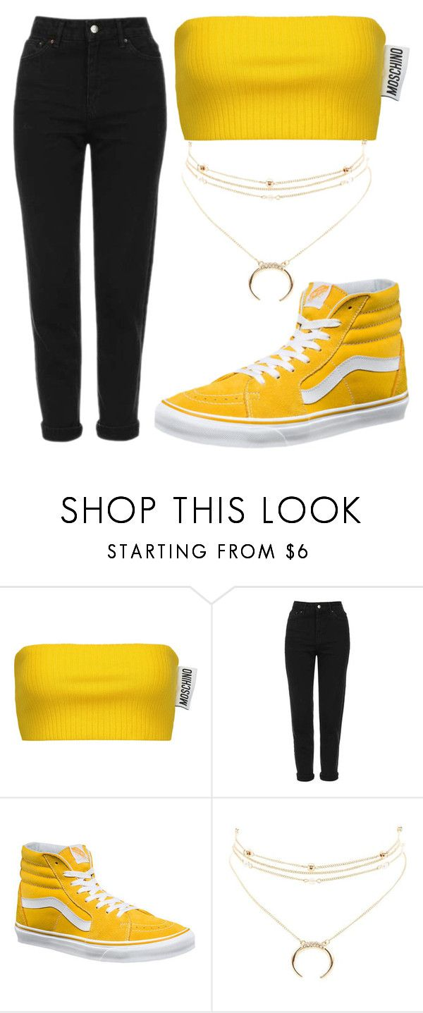 """""""The 4"""" by lisalue00 on Polyvore featuring Mode, Moschino, Topshop, Vans und Charlotte Russe"""
