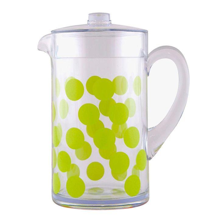 Masivní džbán z bezpečného plastu od Zak!designs - skvělý design pro Vaši zahradu či domov.
