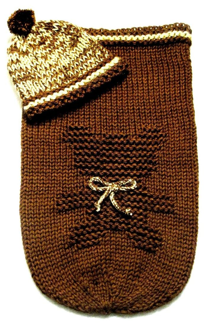 Knitting Pattern for Teddy Bear Baby Cocoon and Hat