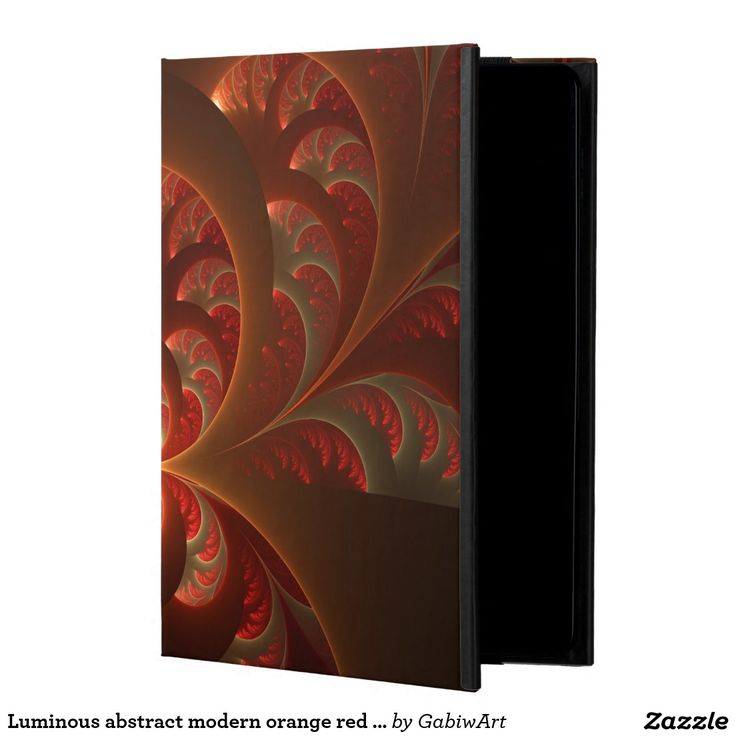 Luminous abstract modern orange red Fractal Case For iPad Air