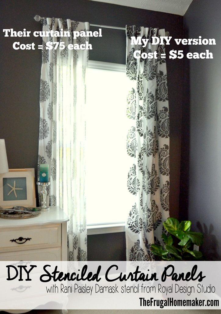 DIY Stenciled Curtain Panels