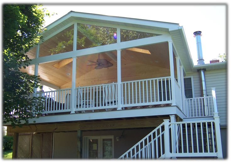 Cool pictures of sunrooms designs house interior design for Second story deck cost