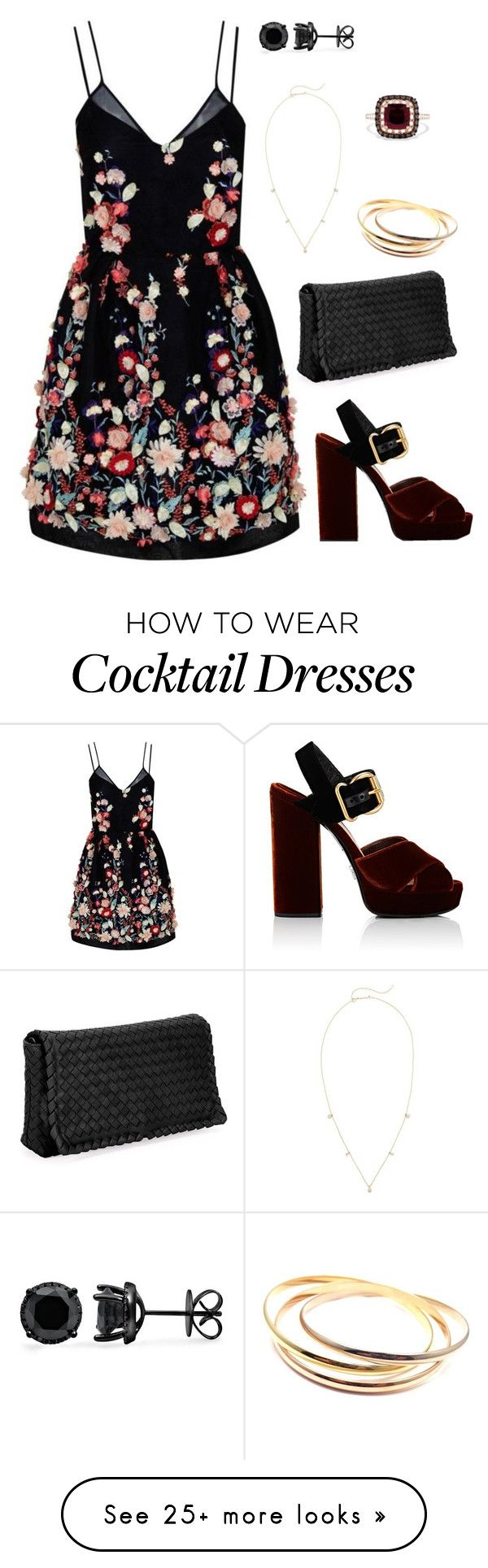 """Cocktails"" by hrebecca73 on Polyvore featuring The 2nd Skin Co., Bottega Veneta, Prada, Effy Jewelry, Cartier and Zoë Chicco"