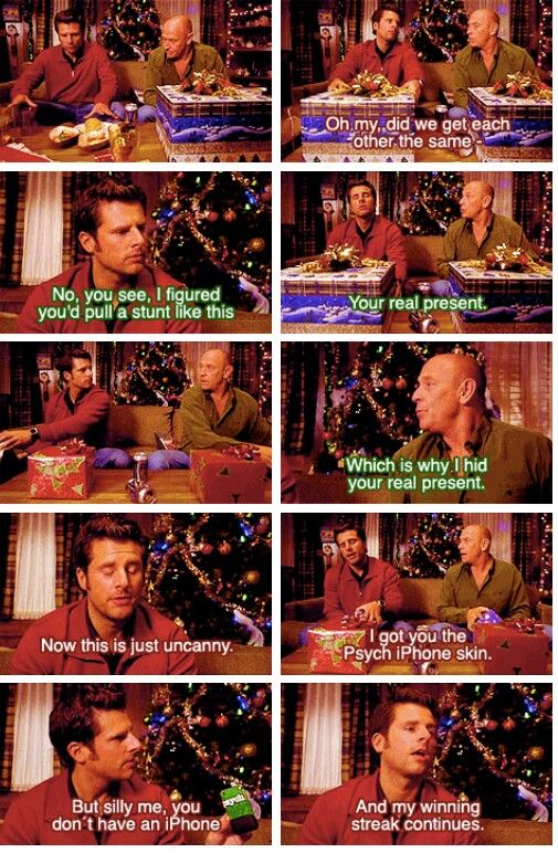 Absolutely my most favorite Christmas Psych scene!