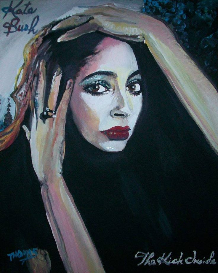 Kate Bush,,............,The Kick Inside(Wuthering Heights)..................in acrylic by TOM