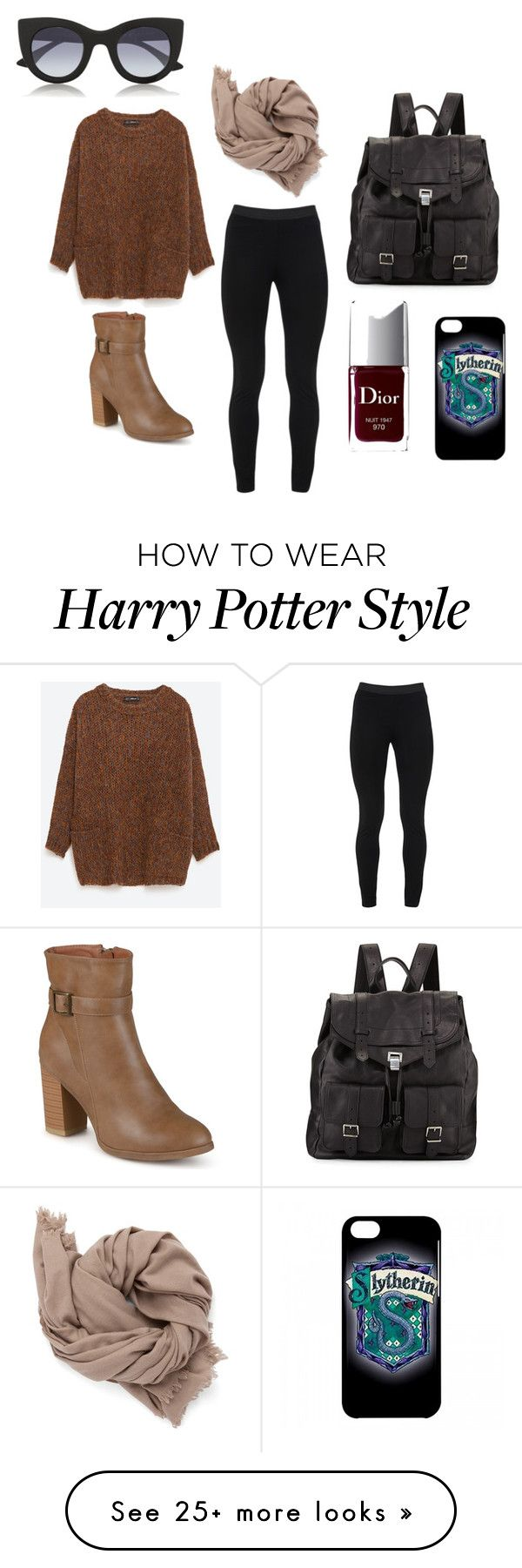 """""""Comfy but cute"""" by daisylynnr on Polyvore featuring Zara, Peace of Cloth, Proenza Schouler, Christian Dior, Journee Collection and Thierry Lasry"""