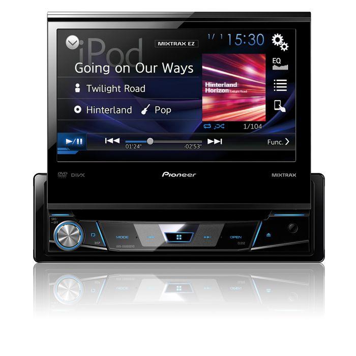 """Pantalla Pioneer AVH-X6800DVD de 7"""" pulgadas, retractíl, reproduce DVD/USB/AUX compatlible con iPod y iPhone."""