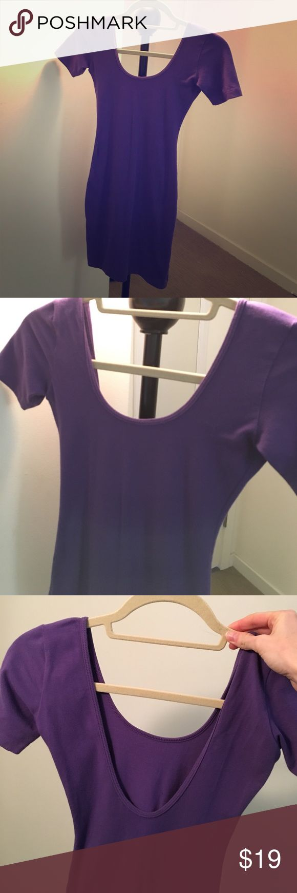 Purple bodycon dress Purple bodycon dress. Only worn once. Perfect condition. Very cute. Can dress up or down Dresses Mini