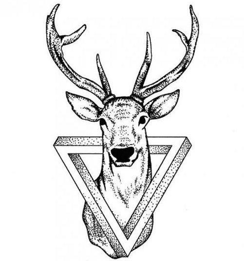 значение тату олень в треугольнике