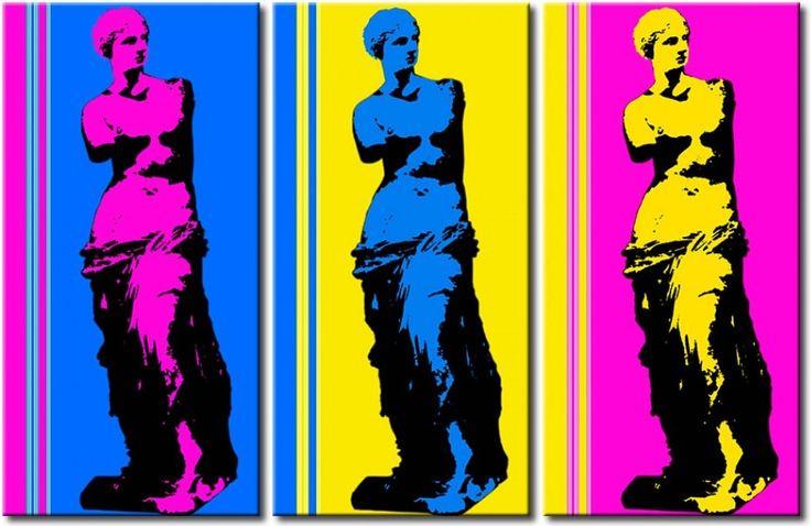 Cuadro - pop art Venus de Milo en el estilo arte pop, siguiendo el modelo de Andy Warhol, es perfecto para los interiores modernos. Y solo depende de ti que composición harás de estas tres piezas ツ