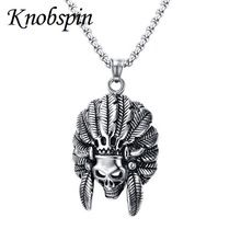 FREE Shipping Worldwide|    Spanking new arriving Stainless steel Indian ghost head Skull Pendant Necklace High quality Rock punk Jewellery for men 60cm Chain Necklaces now at discount $US $9.49 with free postage  you can get this product plus even more at our site      Grab it today the following >> https://tshirtandjeans.store/products/stainless-steel-indian-ghost-head-skull-pendant-necklace-high-quality-rock-punk-jewellery-for-men-60cm-chain-necklaces/    #URBAN}