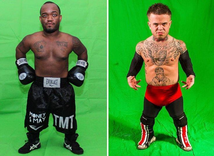 """Mini vs Mini 😱 Floyd Mayweather's tiny doppelganger has signed his contract and will go toe-to-toe with """"Irishman Mini McGregor"""" ... and it's all thanks to Larry Flynt.#tmz #tmzsports #floydmayweather #conormcgregor"""