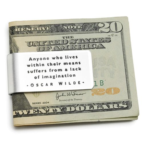 Oscar Wilde Money Clip | Retirement Gifts For Men, Him, Dad, Brother, Uncle, Father