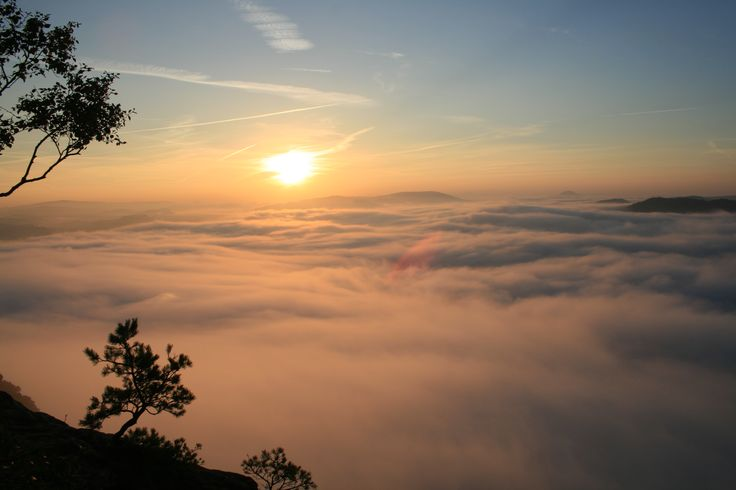 Sonnenaufgang Lilienstein