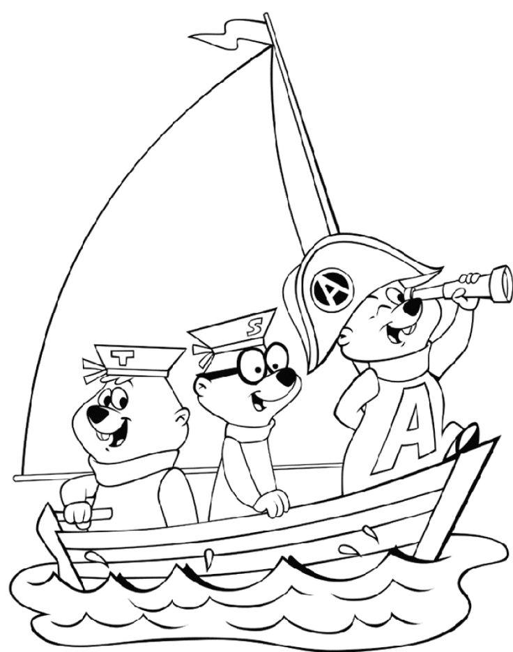 Alvin og de frække jordegern Tegninger til Farvelægning