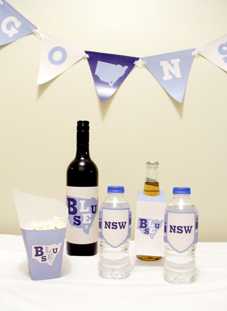 New South Wales (Blues) State of Origin Snack Box and Bottle Labels | Creative Sense Co