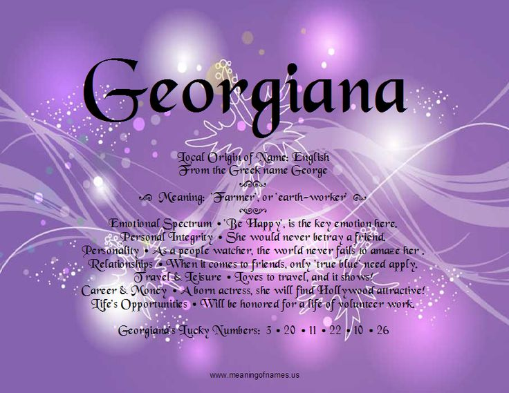 Georgiana - Meaning of names and analysis