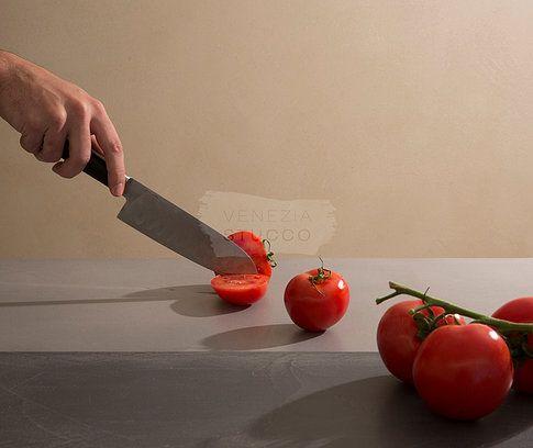 Πατητή τσιμεντοκονία για την κουζίνα