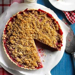 Cherry-Almond Streusel Tart Recipe from Taste of Home -- shared by Marion Lee of Mount Hope, Ontario