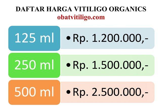 Daftar Harga Produk Vitiligo Organics