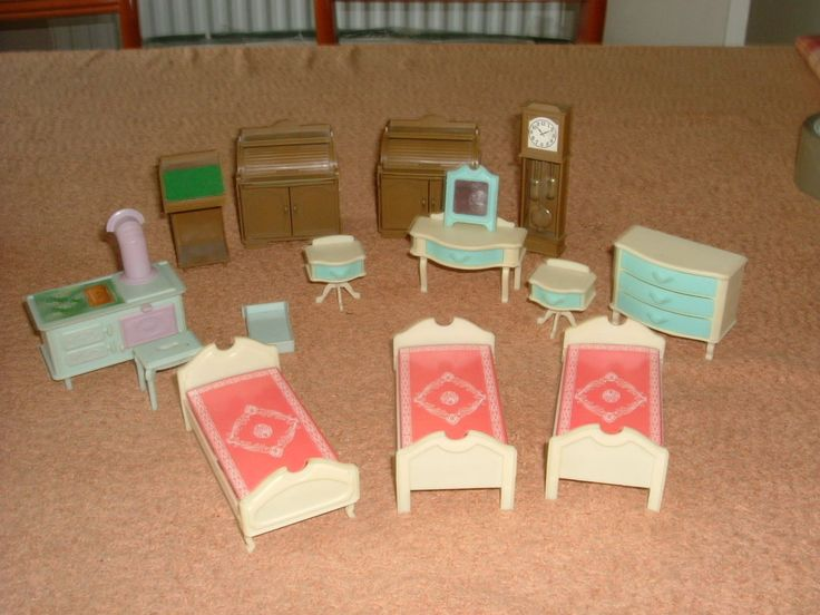vintage Jean West Germany dolls house furniture various, bedroom, living room et | eBay