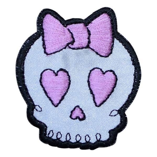 Skull Halloween Witcht Girl Cartoon Biker Iron On Badge Applique Patch Sewing