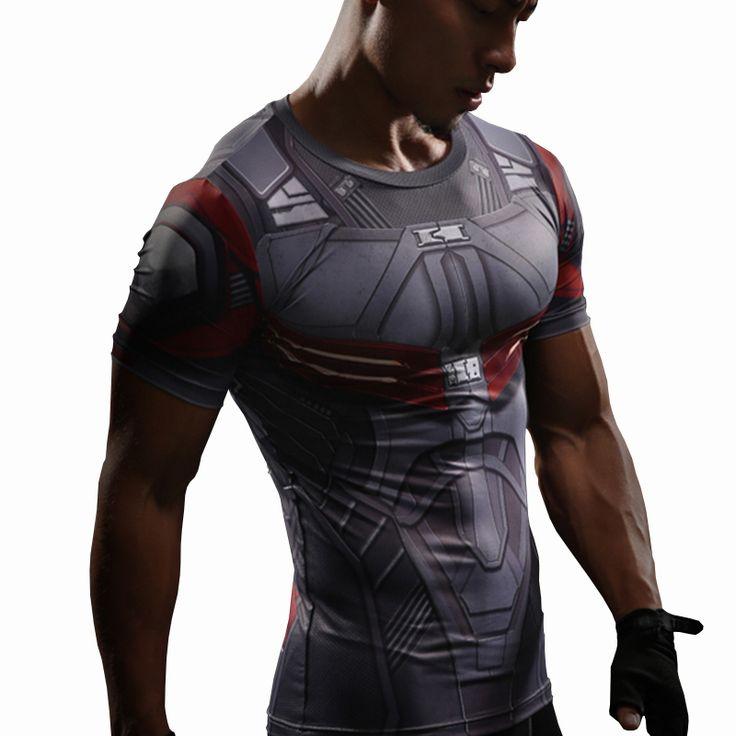 Goedkope Falcon T shirt Captain Amerika Compressie Shirt 3D Gedrukt T shirts Mannen Avengers Korte Mouw Sneldrogende Fitness Doek Mannelijke Tops, koop Kwaliteit T- shirts rechtstreeks van Leveranciers van China: Naam Product: Superhero Nieuwe Film < Avengers 3: BURGEROORLOG > SupermanFalcon3D Gedrukt Compressie T-shirts Man