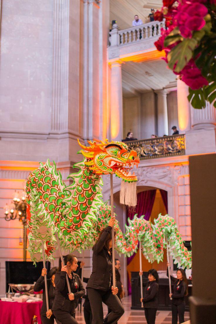 San Francisco Symphony Chinese New Year 2015. San Francisco City Hall. Lighting Design by Got Light. Dancing Dragon.
